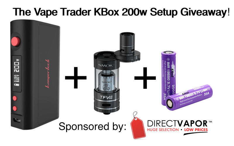 The Vape Trader Kbox 200w Giveaway