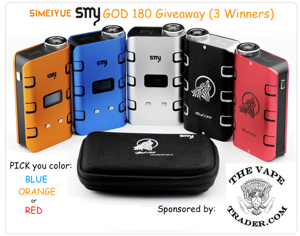 The Vape Trader SMY GOD 180 Giveaway